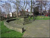 SJ3350 : Gravestone of Elihu Yale (founder of Yale University), St Giles Church, Wrexham by Colin Park