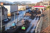 NT4836 : Borders Railway work in Low Buckholmside, Galashiels by Jim Barton