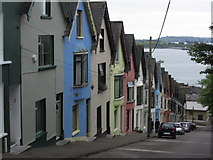 W7966 : Cobh - West View & houses known as 'Deck of cards' by Colin Park