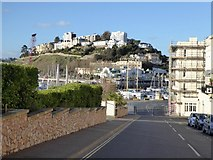 SX9163 : Beacon Hill, Torquay and flats at Livermead by David Smith