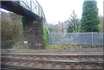 SK3871 : Footbridge north of Chesterfield Station by N Chadwick