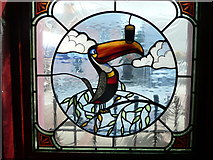 S4943 : Stained glass window in Shirley's Bar by Humphrey Bolton