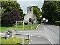 S4943 : Entrance to the Priory car park, and the old church, Kells by Humphrey Bolton