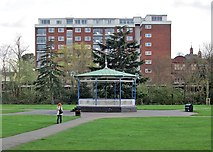 SP3165 : Leamington: the bandstand in Pump Room Gardens by John Sutton