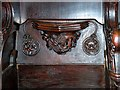 SJ8398 : Sixteenth Century Misericord (Manchester Lion) by David Dixon