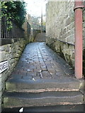 SD9927 : The bottom end of the Stubbing Footpath, Hebden Bridge by Humphrey Bolton