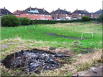 SJ8851 : Evidence of bonfire night by Alex McGregor