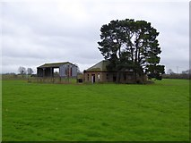 SX9796 : Empty building in a field east of Poltimore by David Smith