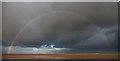 SJ2086 : Rainbow above north-west Wirral by William Starkey
