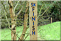 J3977 : Running course waypost, Redburn Country Park, Holywood (December 2014) by Albert Bridge