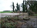 SE5318 : Access barred to the Womersley Park hardstanding by Christine Johnstone