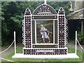 SK2168 : The Sower Well Dressing in Bath Garden, Bakewell by David Hillas