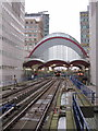TQ3780 : Canary Wharf DLR station by Oast House Archive