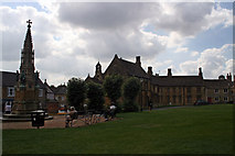 ST6316 : Digby Memorial and Abbey Close, Sherborne by Jo Turner