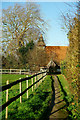 SU8403 : Path to Apuldram Church by Peter Trimming