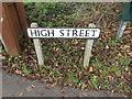 TL3960 : High Street sign by Adrian Cable