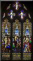 TF3244 : Painted glass window, St Botolph's church, Boston by Julian P Guffogg