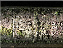 NY6820 : Replica Roman inscribed stones, Chapel Street by Andrew Curtis