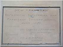 TQ7868 : Dedication Plaque 1, Medway House by David Anstiss