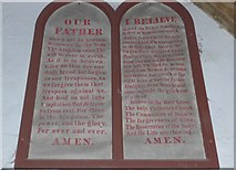 SU1062 : St. Mary, Alton Barnes: Lord's Prayer and Creed by Basher Eyre