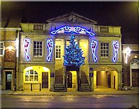 TF0920 : The Town Hall Christmas illuminations at Bourne, Lincolnshire by Rex Needle