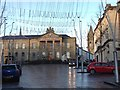 H4572 : High Street, Omagh Christmas morning by Kenneth  Allen
