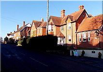 ST8026 : Sunlit houses and deep shadows on Wyke Road, Gillingham by Jaggery