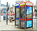 J3374 : Telephone boxes, Wellington Place, Belfast (December 2014) by Albert Bridge