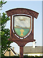 TL7857 : Chedburgh village sign by Adrian S Pye