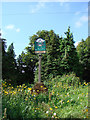 TM0356 : Combs village sign by Adrian S Pye
