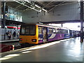 SE2933 : Class 144 'Pacer' no.144019 in Northern Rail livery at Leeds Railway Station platform 1c by Jonathan Hutchins