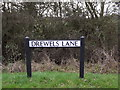 TL2056 : Drewels Lane sign by Adrian Cable