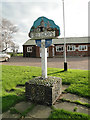 TG4104 : Freethorpe village sign and Hall by Adrian S Pye