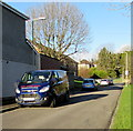 SS8979 : Vehicles parked in Philip Avenue, Bridgend by Jaggery