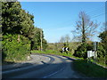 SW8874 : Sharp bend in the road close to St Merryn's church, St Merryn by Ruth Sharville