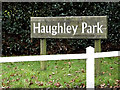 TM0062 : Haughley Park sign by Adrian Cable