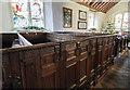 TQ5956 : Box Pews, St Peter's church, Ightham by J.Hannan-Briggs