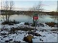 SK3899 : Danger thin ice by Steve  Fareham