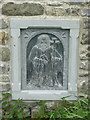 S4143 : Bas relief in a wall east of the ruined Friary church by Humphrey Bolton