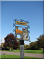 TL8856 : Stanningfield village sign (detail) by Adrian S Pye
