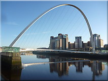 NZ2564 : Tyneside Townscape : The Gateshead Millennium Bridge, Newcastle by Richard West
