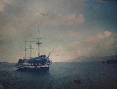 SH5773 : HMS Conway, Menai Strait circa 1947 by Stanley Chinn