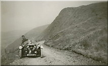 SH9124 : Crag yr Ogof, Easter 1939 and an old Morgan car by Celia Fossey