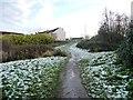 SE3226 : Path up to the Leeds Road [A61], Robin Hood by Christine Johnstone