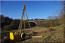SD4964 : Surveying for the Heysham-M6 link road by Ian Taylor