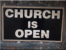 TM3674 : Church Is Open by Keith Evans