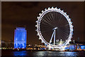 TQ3079 : London Eye in White, London SE1 by Christine Matthews