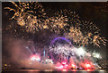 TQ3079 : 2015 New Year Fireworks, London SE1 by Christine Matthews