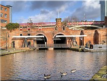 SJ8397 : Bridgewater Canal, The Grocers' Warehouse by David Dixon