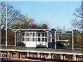 TQ2060 : Passenger shelter, Epsom Station by Jim Osley